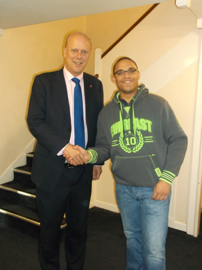 Chris Grayling MP and Alex Viney
